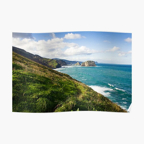Basque Country coast landscape Poster