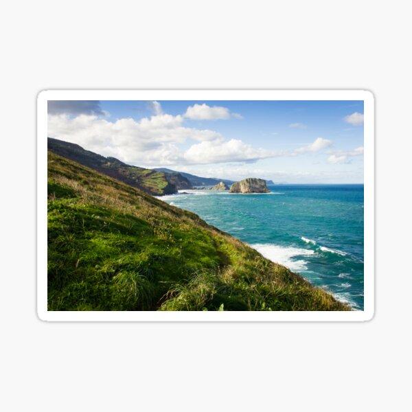 Basque Country coast landscape Sticker