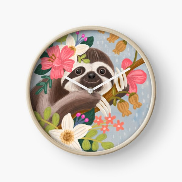 Cute Sloth Clock