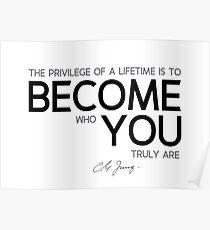 Werde wer du wirklich bist - Carl Jung Poster