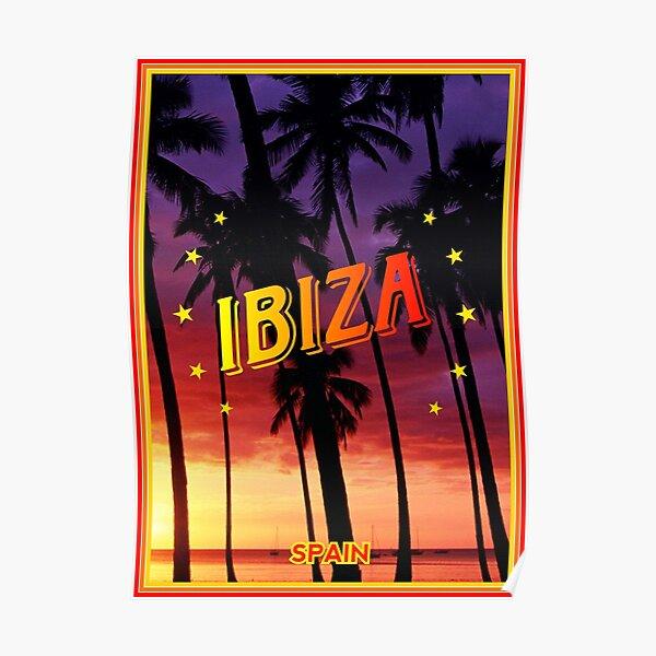 Plakat Ibiza, Sonnenuntergang, Ibiza Spanien, Ibiza Poster