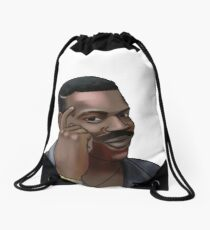 Funny Meme | Black Guy Thinking Meme  Drawstring Bag