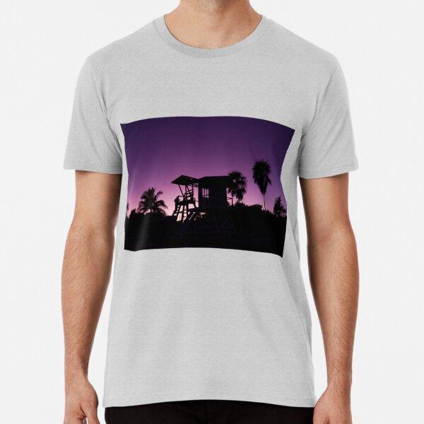 Baywatch tower silhouette sunset Premium T-Shirt
