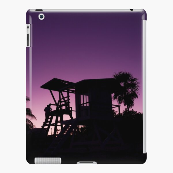 Baywatch tower silhouette sunset iPad Snap Case