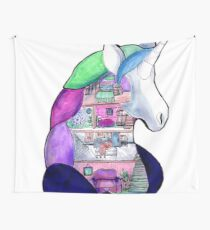 unicorn dollhouse Wall Tapestry