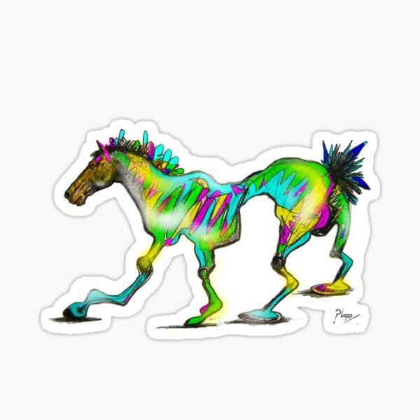 Wonky Horse, pop art. Sticker