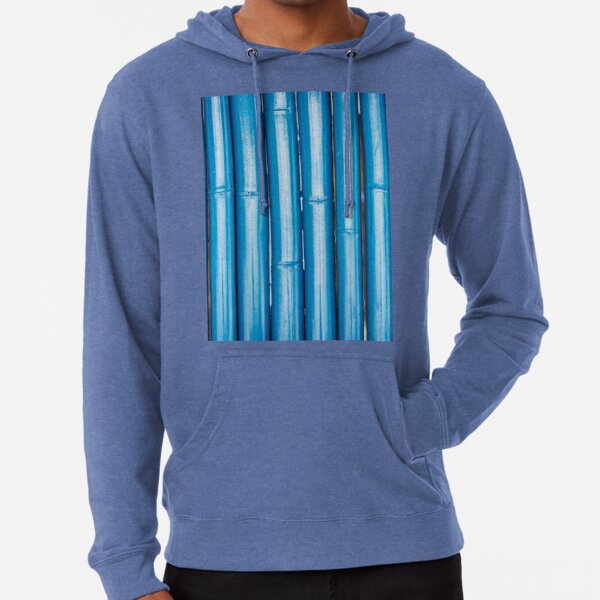 Blue bamboo canes background Lightweight Hoodie