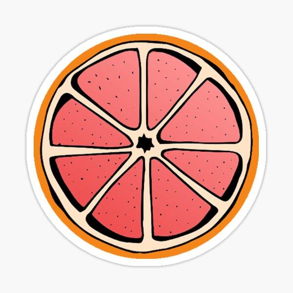 Grapefruit pattern (2) Sticker