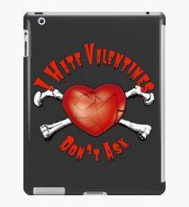 I Hate Valentines Day Broken Heart iPad Case/Skin