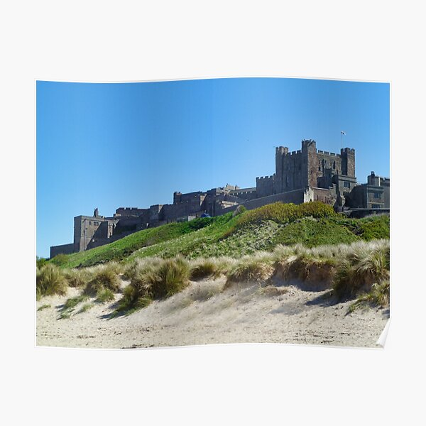 Beach and Bamburgh Castle Poster