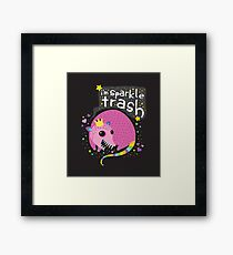 Sparkle Trash Framed Print