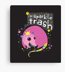 Sparkle Trash Canvas Print