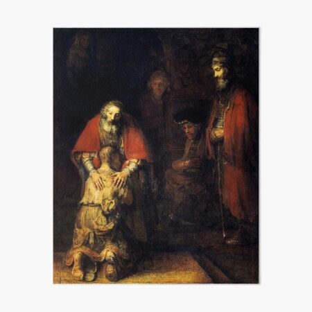 Rembrandt - The Return of the Prodigal Son Art Board Print
