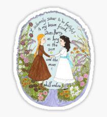 Anne & Diana Sticker