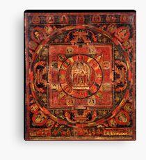 Buddhist Kwan Yin Mandala of Compassion Canvas Print