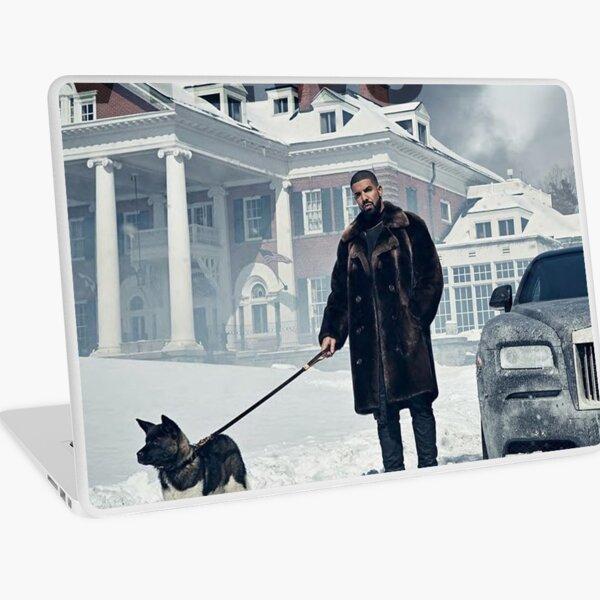 Drake with Dog Views Tapestry Laptop Skin