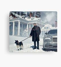 Drake with Dog Views Tapestry Metal Print