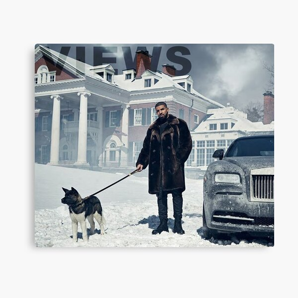 Drake with Dog Views Tapestry Canvas Print