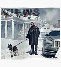 Drake mit Hund Ansichten Tapisserie Poster