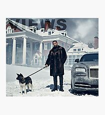Drake with Dog Views Tapestry Photographic Print