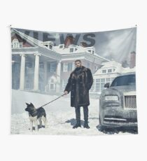 Drake with Dog Views Tapestry Wall Tapestry