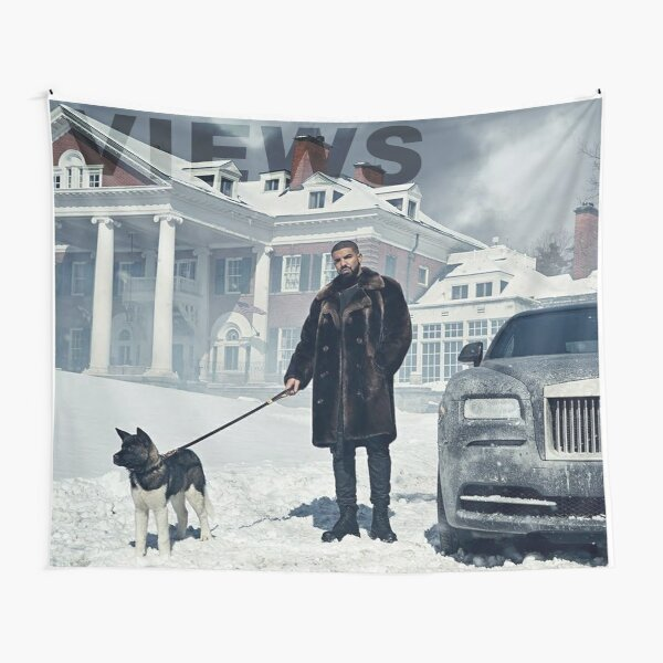 Drake with Dog Views Tapestry Tapestry