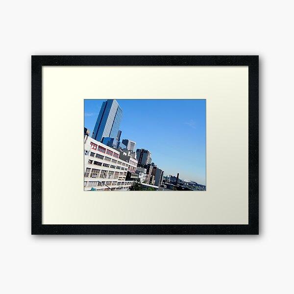 Seattle Blue Framed Art Print