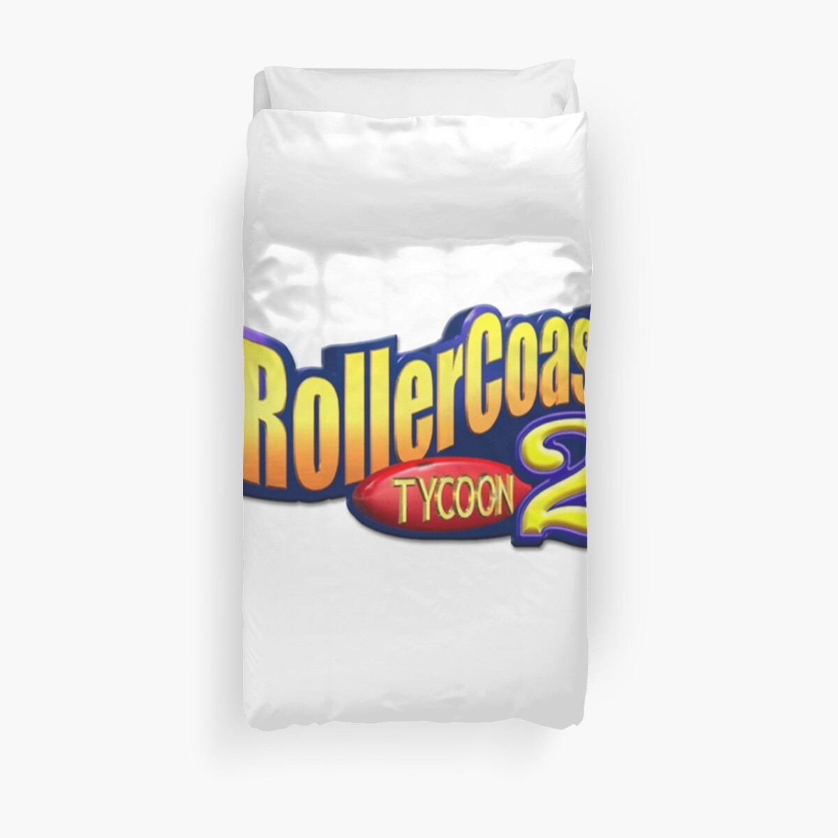 'RollerCoaster Tycoon 2' Duvet Cover by MammothTank