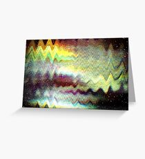 Glitch psychedelic background Greeting Card