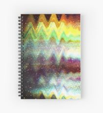 Glitch psychedelic background Spiral Notebook