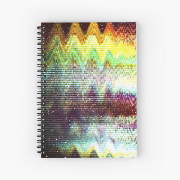 Glitch psychedelic background Spiral Notebook