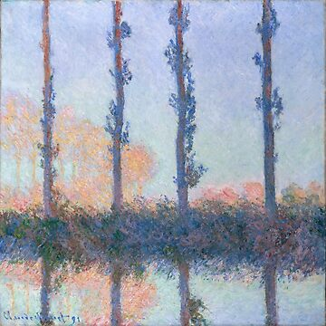 The Four Trees by Claude Monet by VintageArchive