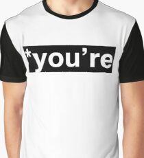 You're (correction) - Black Block Graphic T-Shirt