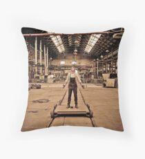 metal worker Throw Pillow