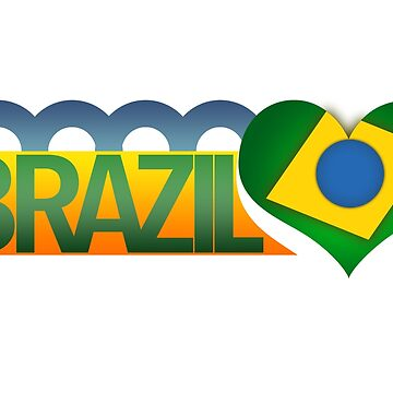 I Love Brazil by sventshirts