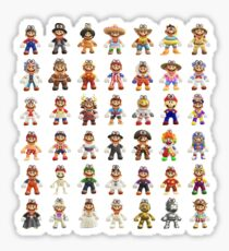 Super Mario Odyssey All Outfits Xtra Large for Individual Stickers Sticker