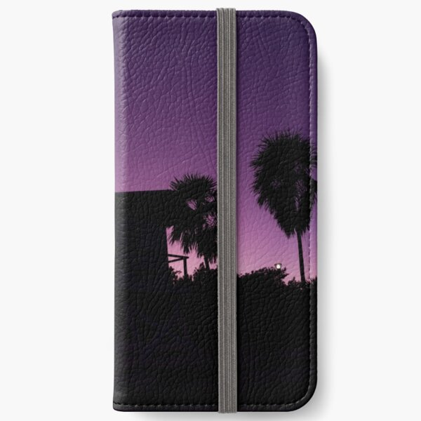 Baywatch tower silhouette sunset iPhone Wallet