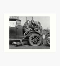 Young Lady Auto Mechanics, 1927 Art Print