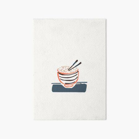 Bowl of Rice Art Board Print