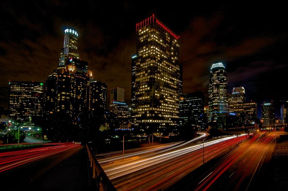 Los Angeles By Night by gfydad