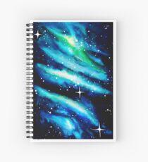 Blue Galaxy Watercolor Spiral Notebook