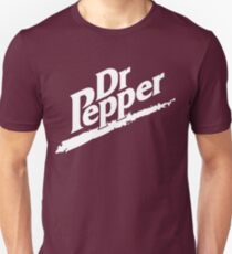 Dr Pepper 90s Maroon Background Unisex T-Shirt