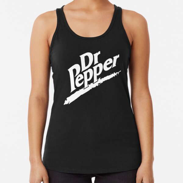 Dr Pepper 90s Maroon Background Racerback Tank Top