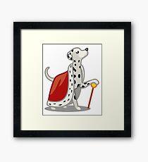 Funny Dalmatian Diva Tshirt - Dog Gifts for Dalmatian Dog Lovers! Framed Print