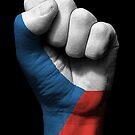 Flagge der Tschechischen Republik auf einer angehobenen geballten Faust von jeff bartels