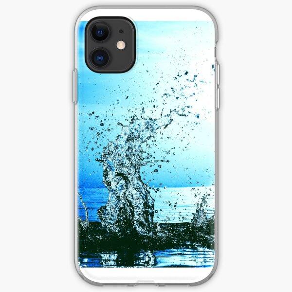 Blue water splash iPhone Soft Case