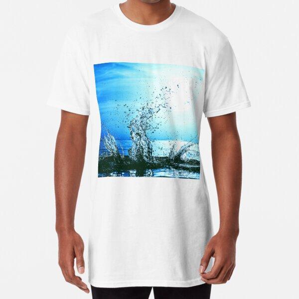 Blue water splash Long T-Shirt