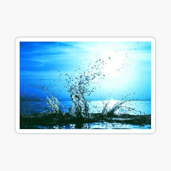 Blue water splash Sticker