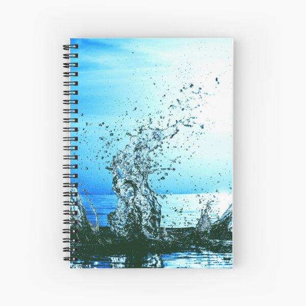 Blue water splash Spiral Notebook