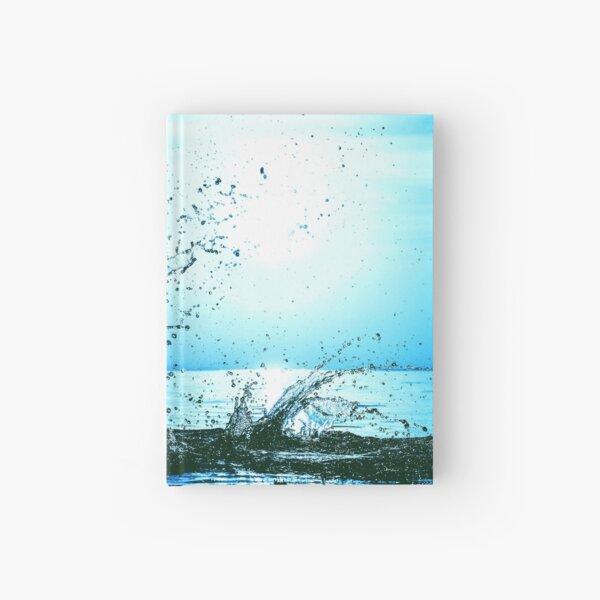 Blue water splash Hardcover Journal